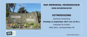 Herdenking gevallen R.A.F. piloten WOII te Boxbergheide – 12 september 2017